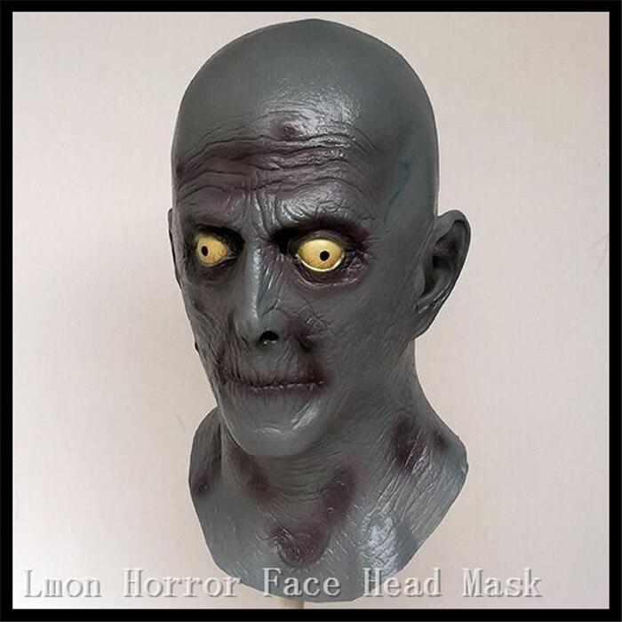 Оптовая Halloween Party Косплэй Латекс Призрак Маска гримасы демон Хэллоуин, потому мужской реквизит Ужасы Страшно Уход за кожей лица Глава Маска