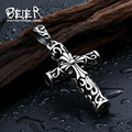 Beier 316L Stainless Steel   Cross pendant necklace  pendant top quality New Brand BP8-204
