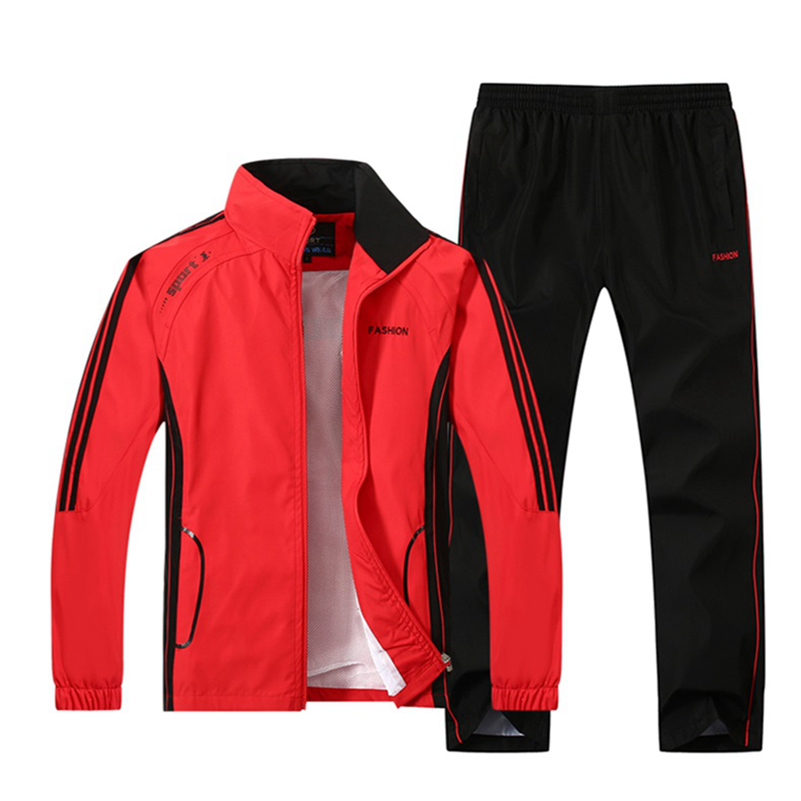 Spring Autumn sport suit Men's sportswear Long sleeve Thin section basketball soccer jogging rugby set for Man Running clothes