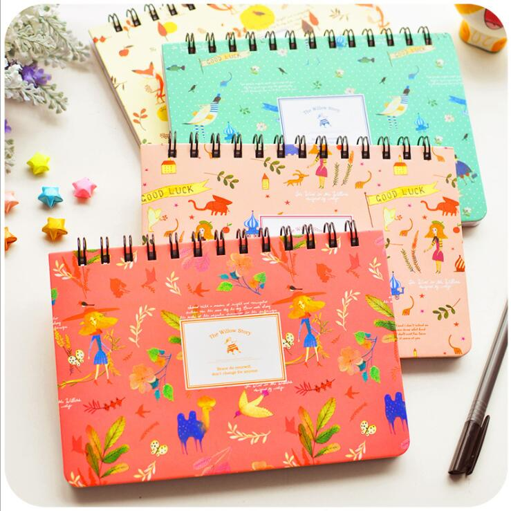 """Willow Story"" Planner Agenda Scheduler Spiral Coil Any Year Diary Cute Notebook Գրենական պիտույքներ"