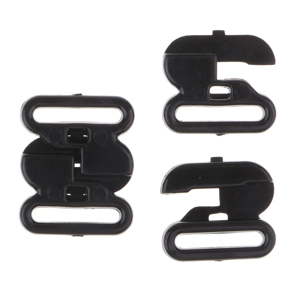 50 Sets Plastic Bra Strap Adjuster Slider Hook Lingerie Buckle Clips 10mm