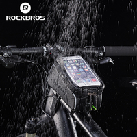 ROCKBROS Bike Bicycle Bags Waterproof Touch Screen MTB Road Cycling Top Front Tube Frame Bags 6