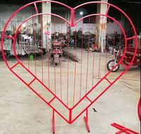 Сварная ферма Арка любовь Арка персик сердце железная Рабочая рамка в форме сердца дверная рама специальная рамка в форме сердца арка