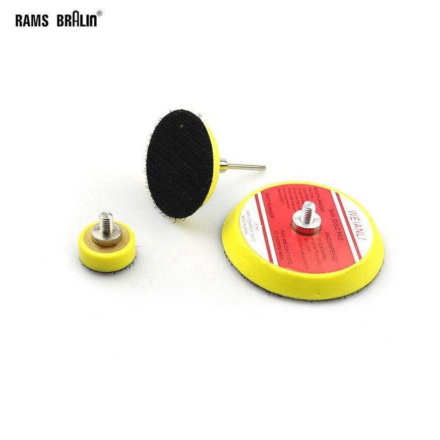 1 Piece Sanding Back-up Pad Nozzle + 1 Piece 3mm Mandrel For Dremel Sanding Disc