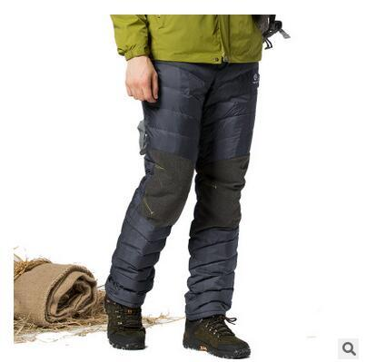 Shipping. mens gratis Marca moda 80% de pato blanco abajo, invierno cálido pantalones largos, 2016 Nueva luz más grueso