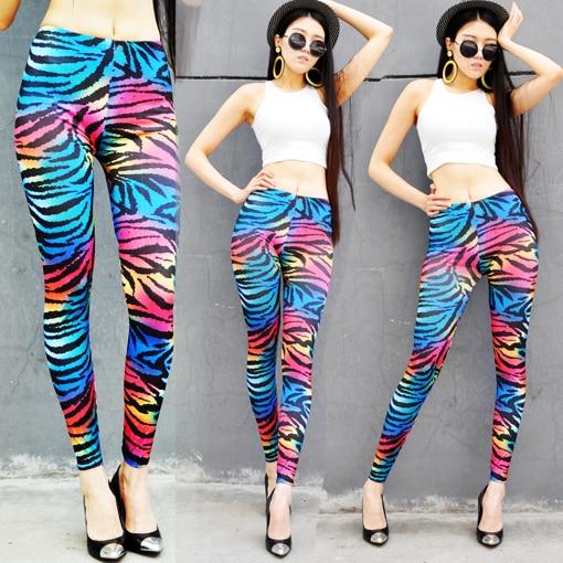 d89c2e39337c Oh nana neon multicolour gradient tie-dyeing leopard print zebra print  HARAJUKU punk legging