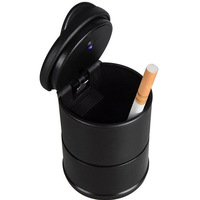 Smokeless Car Ashtray Blue LED Easy Clean Illuminated Ash Bin Health Safety Collecting Ash Tray Non