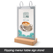 A5 210*148mm Acrylic Restaurant Table Menu Sign Holder Display Stand With Poster Paper Frame