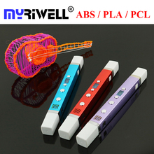Myriwell 3D Pen LCD Screen Usb Charging Usb 3D Printer Pen 50m 100m 1 75mm ABS