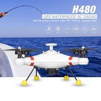 H480 бесщеточный 5,8g FPV 700TVL Камера GPS Квадрокоптер самолет БПЛА с OSD Водонепроницаемый профессиональные рыболовные Радиоуправляемый Дрон