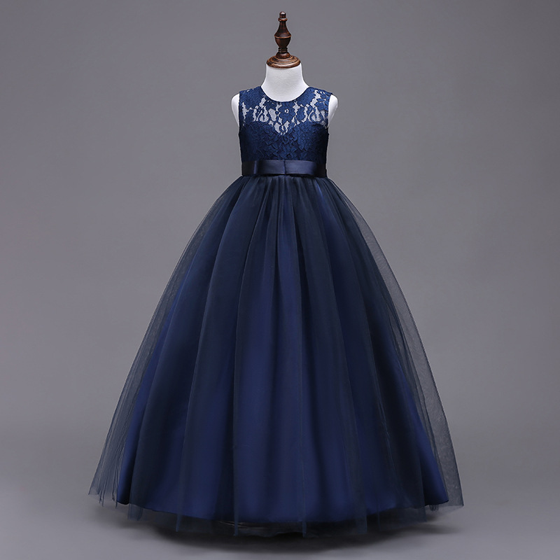 Teens Girls Lace Dress 2018 Girls Evening Prom Dress for Party and Wedding Clothes Kids Children New Year Clothing 4-15 Yrs 2017 girls princess dresses kids bridesmaids clothes long dress children red prom dress for party and wedding 4 5 6 7 8 9 10 yrs
