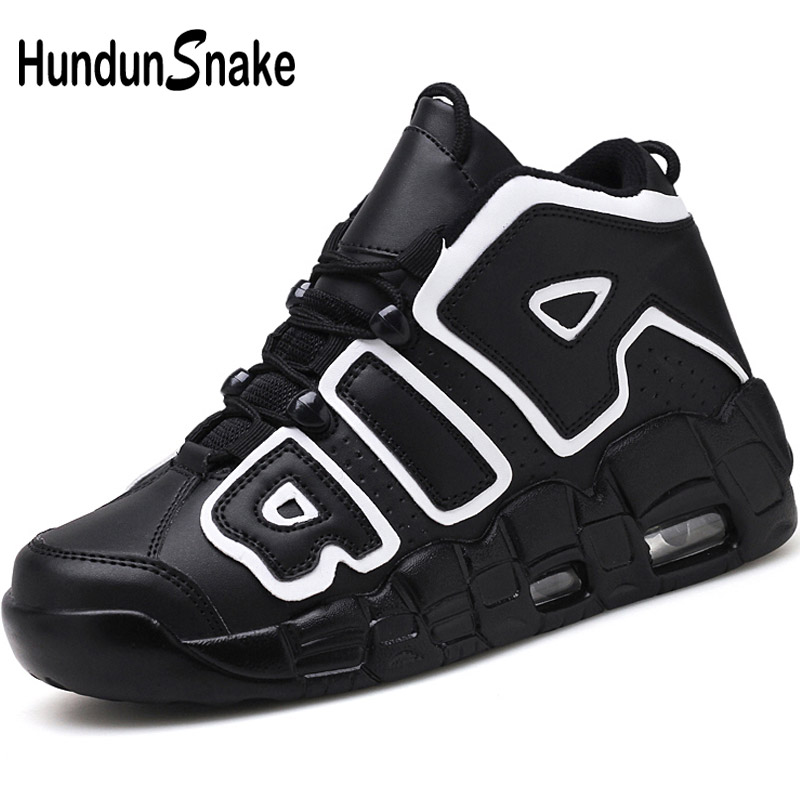 Hundunsnake 2018 Men Basketball Shoes Black Sport Shoes Men Sneakers High Top Mens Basketball Shoes For Kids Children Boys T499