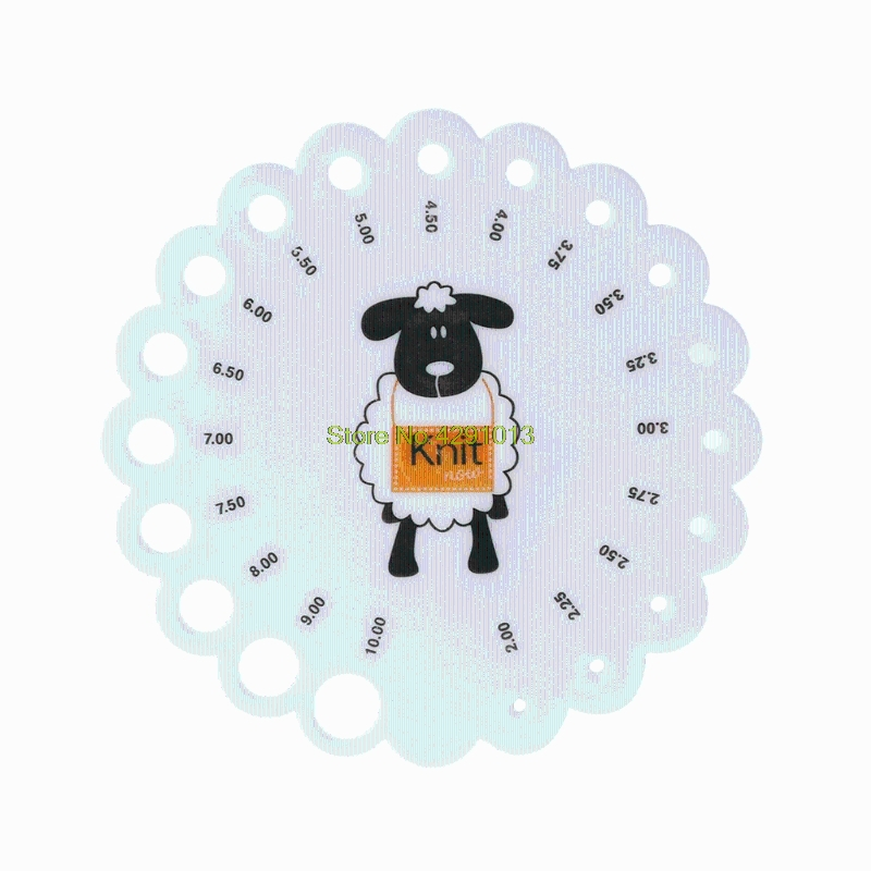 New Round Knitting Knit Needle Sizer Gauge Ruler Measure Tool Size 2mm -10mm Drop Shipping Support