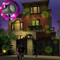 Outdoor Xmas LED Laser Projector Light Christmas Lamp Landscape Garden Decor Props with 12 Slides LB88