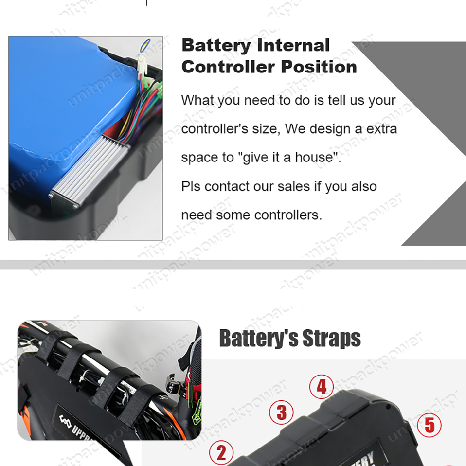 Best ebike 48V 52V 1000W Triangle Plastic case Battery 20Ah 15ah lithium battery pack for Bafang tsdz2 Electric bicycle kit with USB 5