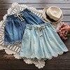 Spring Summer Mori Girl Short Women S Layer Floral Embroidery Elastic Waist Pocket Denim Cowboy Female