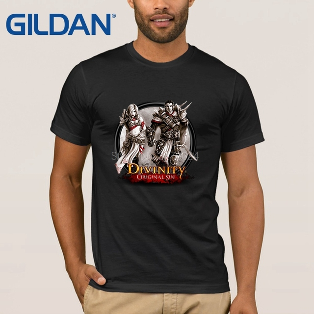 65bafa129 Gildan Knitted Round Collar Tshirt Men Divinity Original Sin T Shirt For  Men Trend Anti-