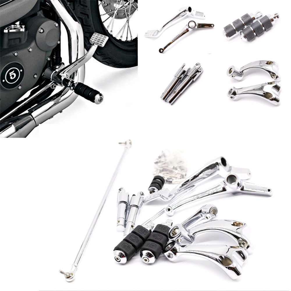 Motorcycle Footpegs Aluminum Chrome Foot pegs For Harley Davidson Touring Electra Glide Softail Dyna chrome skull foot pegs for harley davidson softail dyna glide sportster