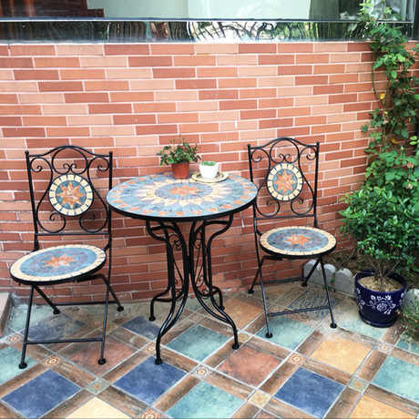 Garden Set Outdoor Furniture metal 2 chairs & 1 table sets ...
