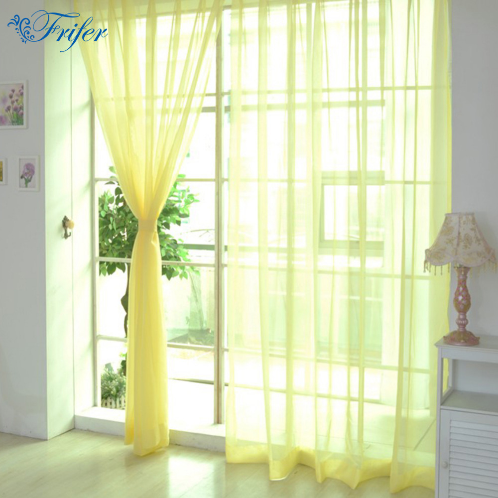 living room curtains cheap 100 200cm cheap modern window curtain home white tulle 12721