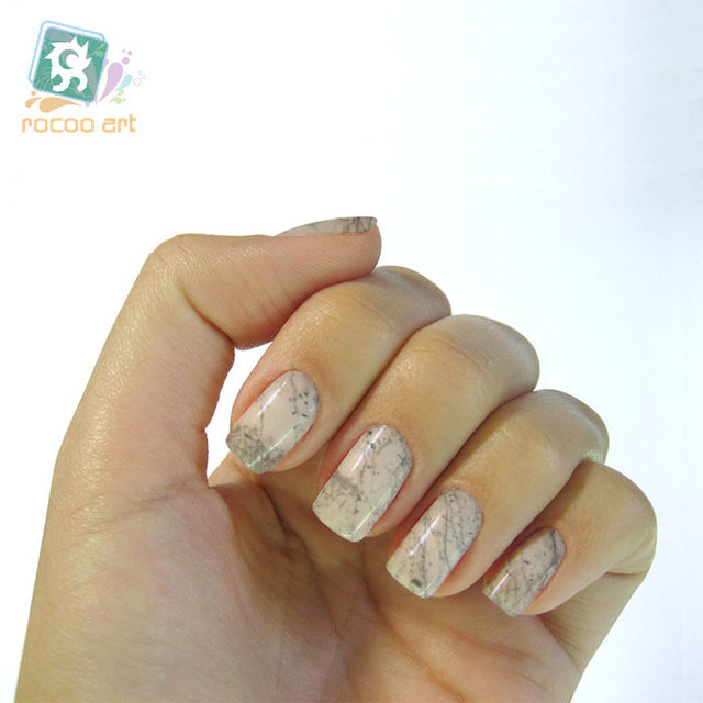 Online Shop New Water Transfer Nails Art Sticker Graphic Marble ...