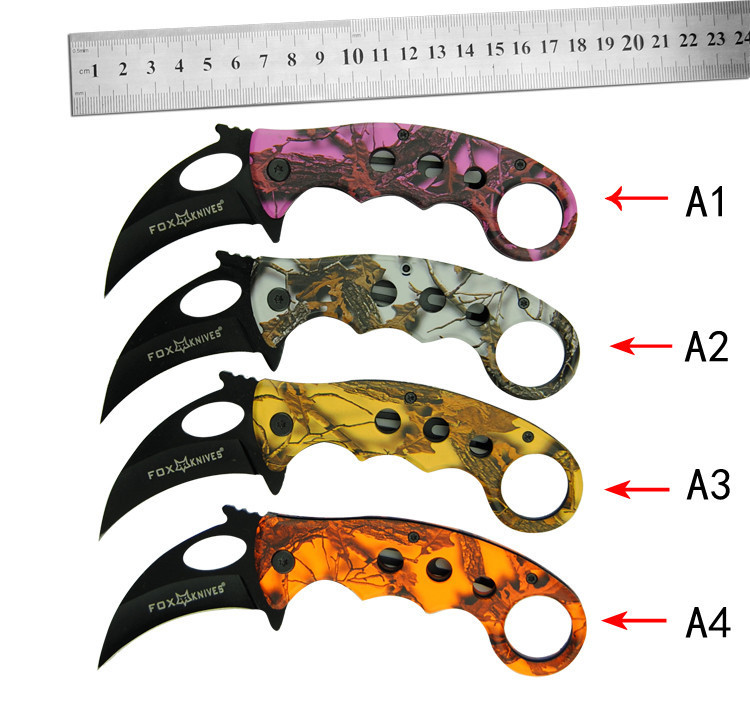 New 4 colors scorpion claw font b knife b font outdoor camping jungle survival battle karambit