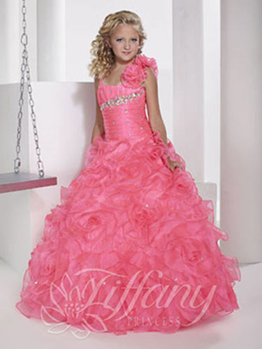 In Stock Layered Pre-Teen Party Gowns Little Girls Pageant Dress Pink Color in stock layered pre teen party gowns little girls pageant dress pink color
