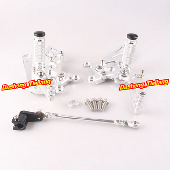 Adjustable Shift Foot Pegs Rear Set Footrests Kit For Aprilia RSV4 2009 2010 2011 2012 2013 2014 Motorcycle Accessory Parts