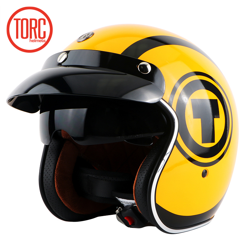 New TORC T57 vintage motorcycle helmet jet Helmet scooter moto helmets with inner shield capacetes motociclismo