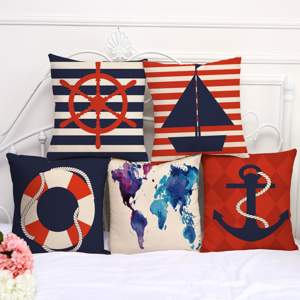 online buy wholesale nautical cushions from china nautical. Black Bedroom Furniture Sets. Home Design Ideas