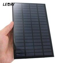 18V 2.5W Yüksek kalite evrensel Polikristal Depolanmış Enerji Güç güneş paneli modülü Sistemi Güneş Pilleri Şarj 19.4x12x0.3cm