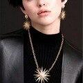 Statement Stars Gem Bohemian Sun Moon Earrings Jewelry For Women Wholesale brincos grandes