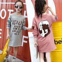 Brand Design Cartoon Girls T Shirts Letter Print Clothes Baby Kids 2017 New Autumn Children Tee