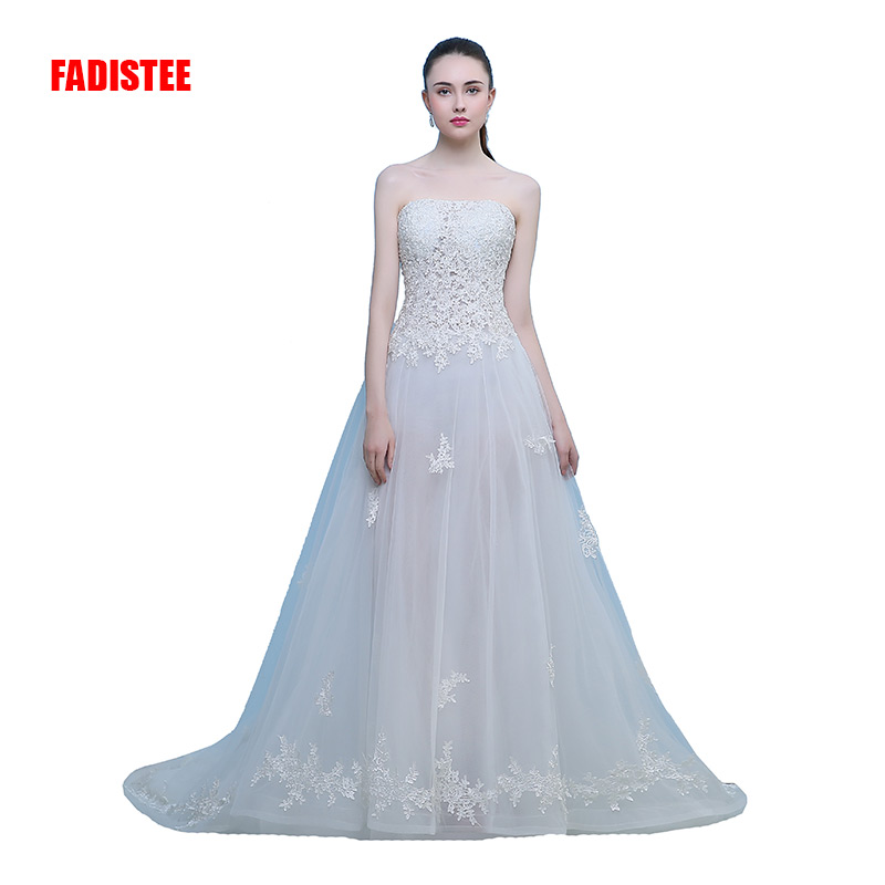 FADISTEE New arrival elegant wedding dress Vestido de Festa dress appliques long style strapless party dresses