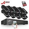 ANRAN Plug And Play 8CH CCTV System 48V POE NVR Kit Onvif P2P 1080P 2 0MP