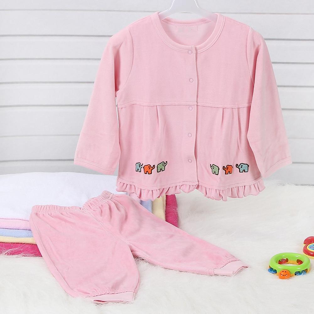 Baby Boy Girl Klädsel Set Baby Kläder Långärmad Baby Outfit - Babykläder
