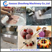 Ice cream fry machine cold stone frying table making fried icecream KTV dedication ball