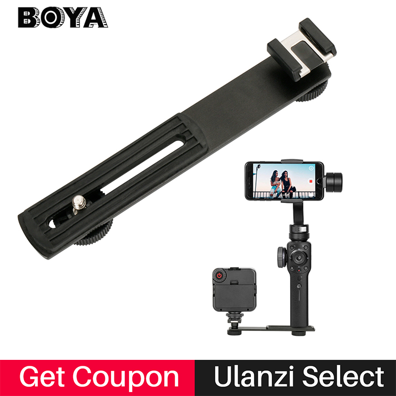 Aluminium Cold shoe Mic Stand Bracket Adapter for Zhiyun Smooth 4 Smooth Q,tripod Stand for LED Video Light Monitor DSLR camera