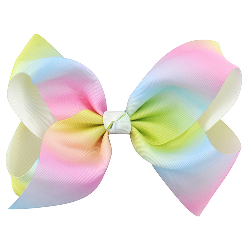 1Pc 8 Girls Grosgrain Ribbon Hair Bows Boutique Rainbow Hairpin With Alligator Clip For Teens Kids Child Hair Accessories Gifts halloween party zombie skull skeleton hand bone claw hairpin punk hair clip for women girl hair accessories headwear 1 pcs