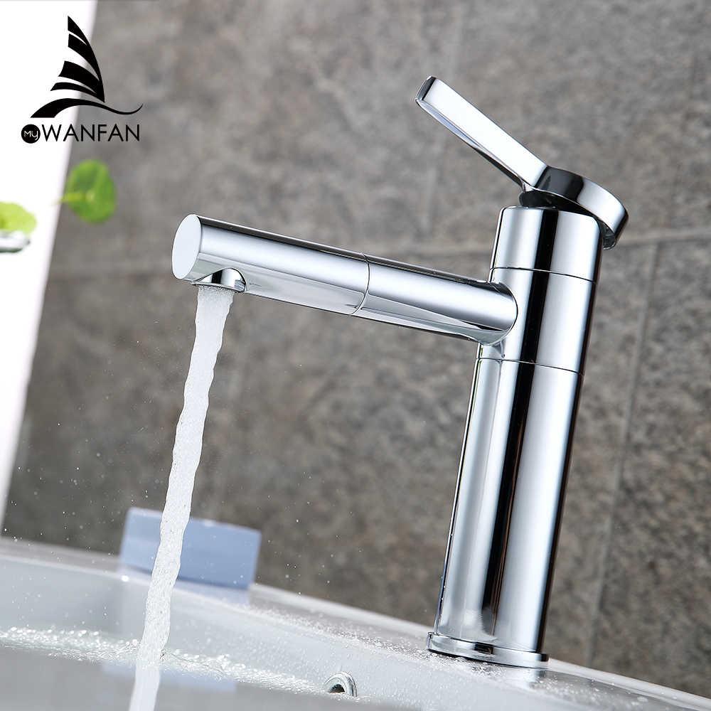 Havza Musluk Pirinç Banyo Musluk damarlı lavabolar Mikser Vanity Dokunun Döner Borulu Güverte Üstü Beyaz Renk Lavabo Musluk LT-701A