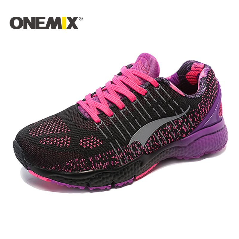 ONEMIX 2018 Women Running Shoes Light Sneakers Breathable Mesh Ladys Sport Sneakers Keselesaan Outdoor Walking Shoes size 36-40