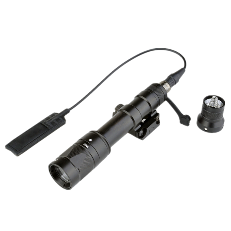 lampada lanterna tatica com interruptor da cauda m600w scoutlight led full nova versao de preto