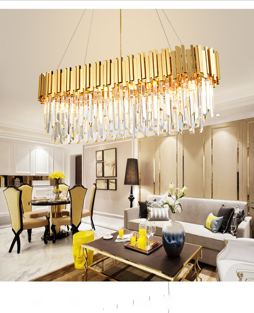 Restaurant Chandelier Gold Stainless Steel American Style RetroFor Living Room Bedroom Hall Hotel Dining Room Fashion