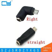 Адаптер питания 12 В постоянного тока, 5,5*2,1 мм гнездо к Micro USB папа адаптер 90 градусов конвертер для телефона и планшета