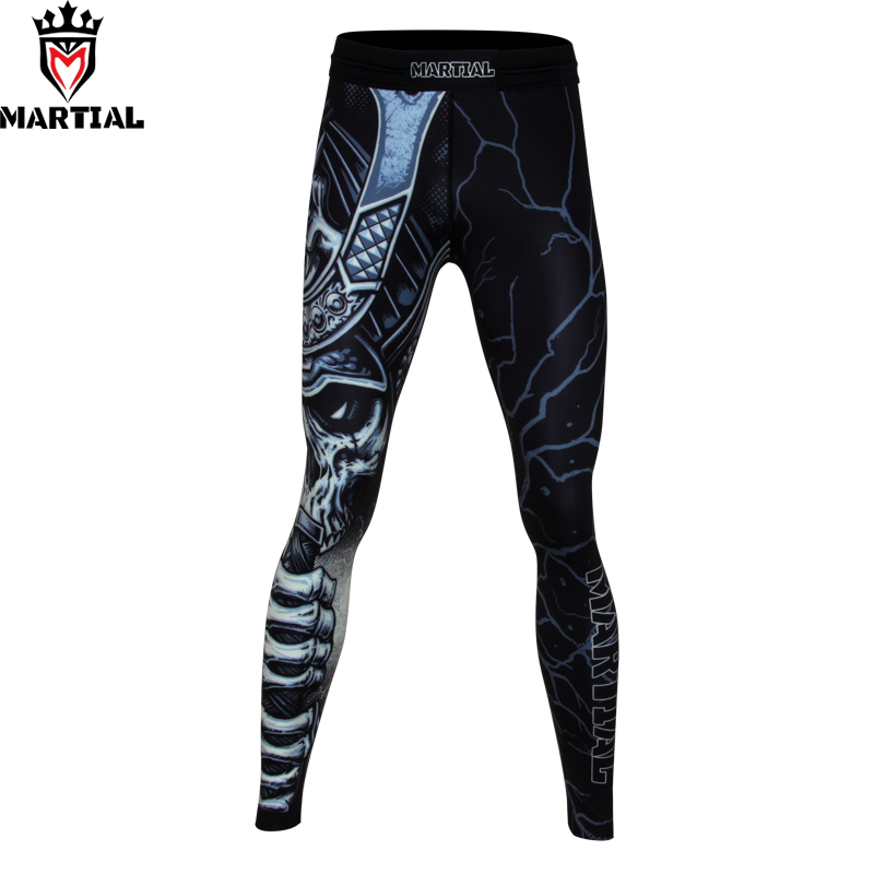 Martial:The WARRIOR sublimation martial arts pants fitness mma boxing pants running tights men gym leggings