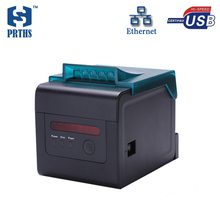 80mm professional thermal receipt printer for kitchen bill printing with alarm support wall hanging ethernet printer machine