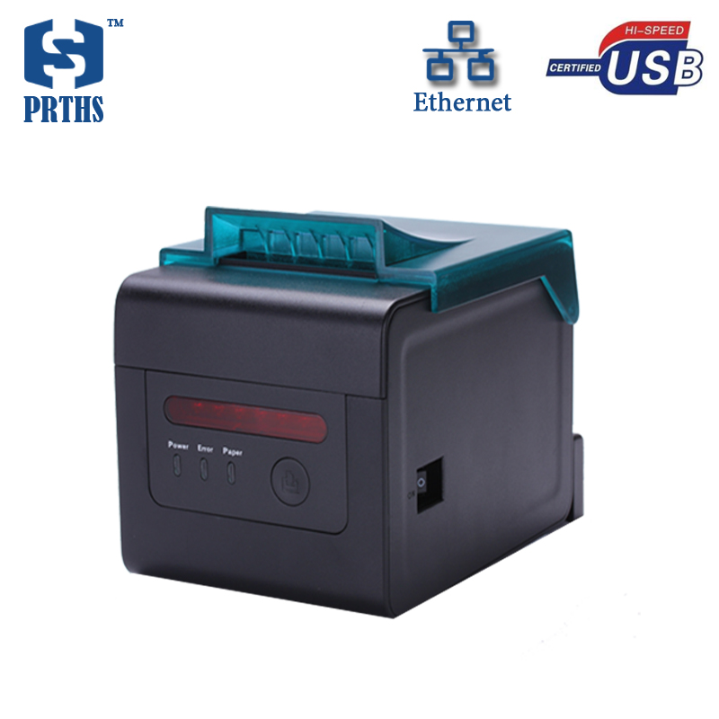 80mm professionnel thermique réception imprimante pour cuisine impression des factures avec alarme soutien tenture ethernet imprimante machine