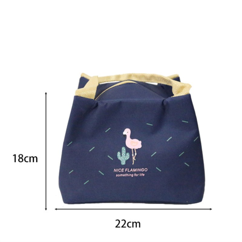 1Pc Insulated Lunch Bag Thermal Flamingo Tote Bags Picnic Waterproof Portable Picnic Beach Food Fresh Keep Cooler