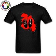 Deadpool Splattered Blood Face T Shirts Marvel Wilson Punisher Dead Pool 100% Cotton Tshirts Gift Captain Tee For Men