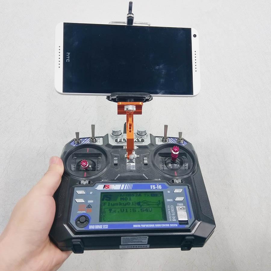 FPV Monitor Mobile Phone HolderDisplay Mounting Bracket Support Clip DJI Frsky FS-i6 JR Futaba JR Radiolink AT9 RC Transmitter